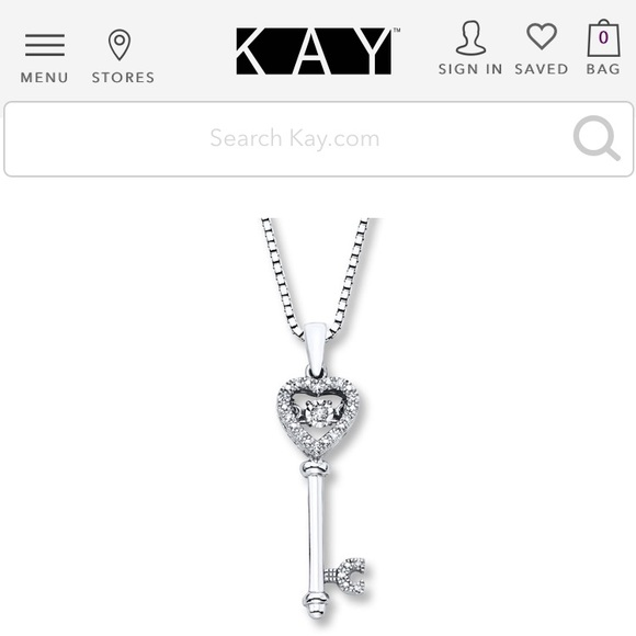 2003e1548 Kay Jewelers Jewelry | Diamonds In Rhythm Key Necklace | Poshmark